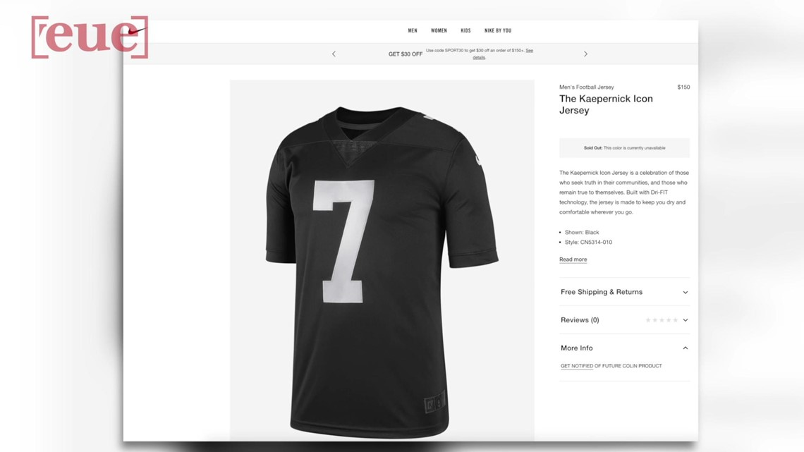 low priced 90601 6fdad Nike Debuts Colin Kaepernick 'Icon' Jersey; Sells Out Within Hours
