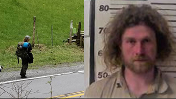 Arrested after all: Appalachian Trail hiker known as 'Sovereign' booked in North Carolina for assault