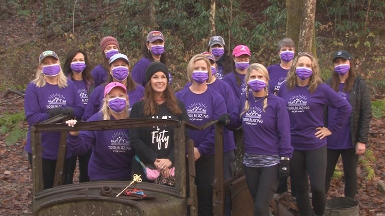 'A sisterhood'   Group of women hike through life's ups and downs together