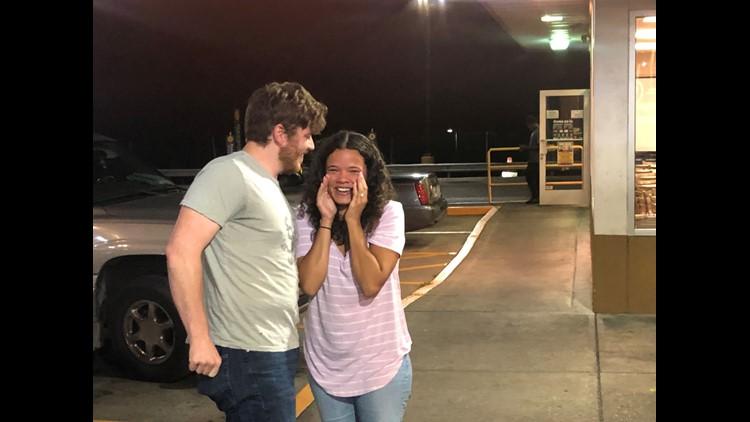 Jake and Ashton's proposal at a Pilot