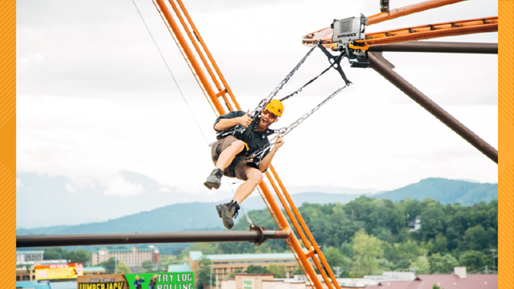 Only one in the world! | New zipline roller coaster opens in Pigeon Forge