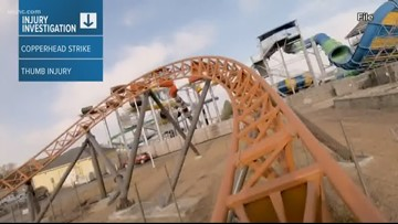 Copperhead Strike ride currently closed at Carowinds after injury