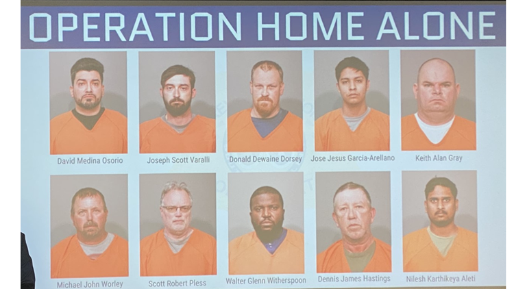 'Operation Home Alone' | Suspected online predators arrested in SC