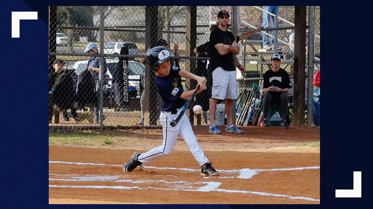Sammy playing baseball