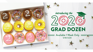 Krispy Kreme is giving graduating seniors a free dozen doughnuts