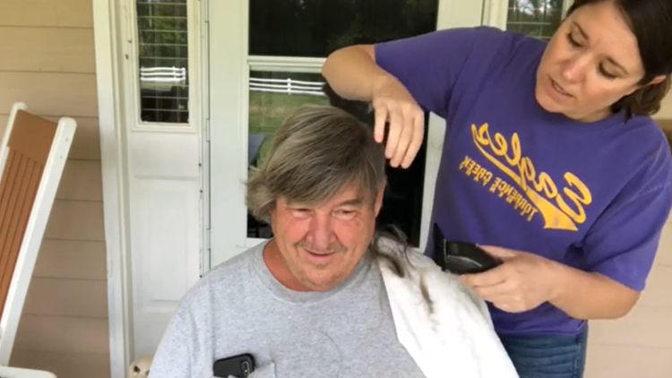 'It was an amazing surprise' | How a simple front porch haircut raised more than $30K for a NC soup kitchen