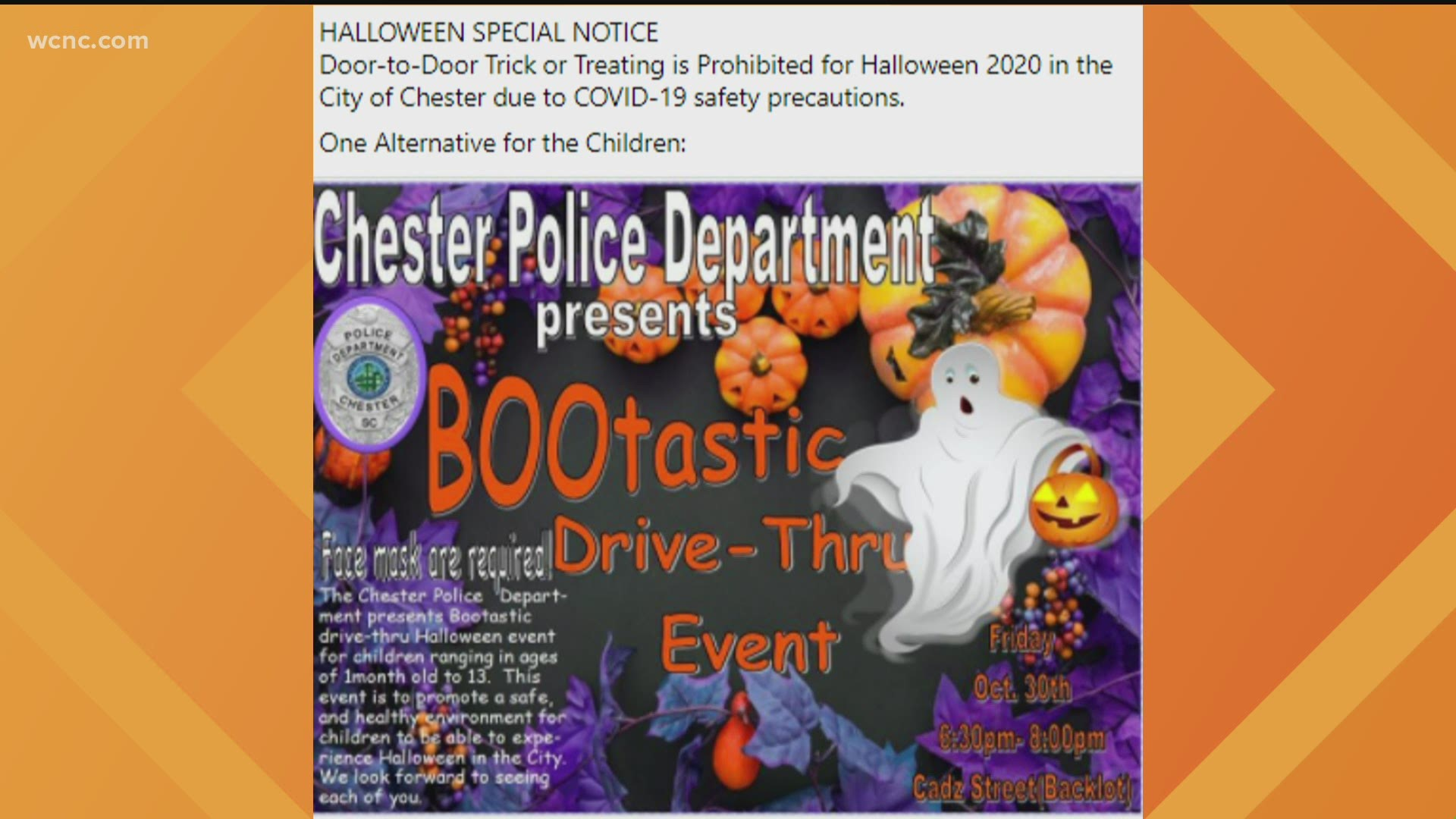 Halloween Events 2020 South Carolina Chester, SC bans trick or treating amid Covid 19 concerns | wltx.com