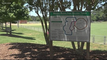 A man was stabbed near a NC park while a little league game was underway