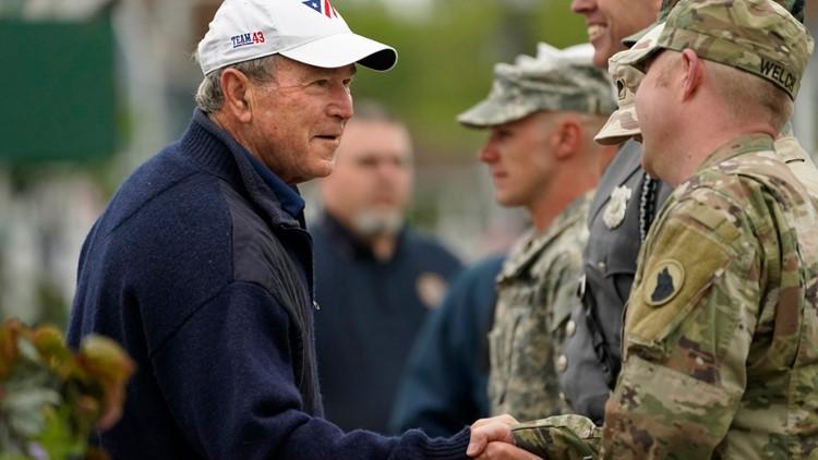 George W. Bush honors veterans, parents, on Memorial Day