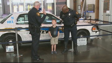 Police in Texas welcome 5-year-old as honorary member of the force