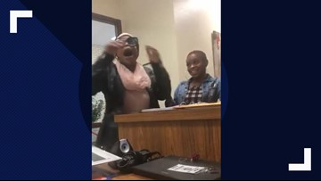 This mom's visit to the principal's office ended in a victory dance