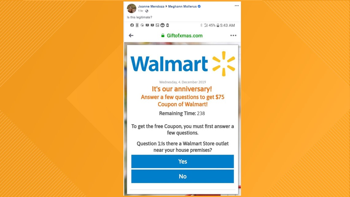 VERIFY: This third-party Walmart 'coupon' is not legit