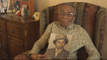 'We're the girls, soldier girls, minus frills, minus curls': Meet Private Elizabeth Johnson from the all-black, all-women WWII battalion