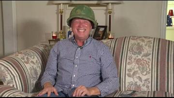 'It still fits!' | Burlington Veteran gets back long lost army helmet for Christmas