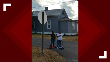 'It really touched my heart': NC firefighter reacts to photo of boys saying 'Pledge of Allegiance' during flag raising