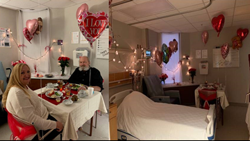 Nurses surprise couple With Valentine's Day wedding anniversary dinner
