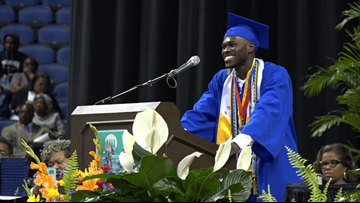'All you need is the determination': Valedictorian from family of refugees hopes to inspire