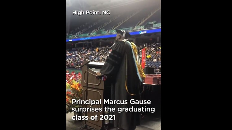 Andrews High principal sings 'I Will Always Love You' to Class of 2021