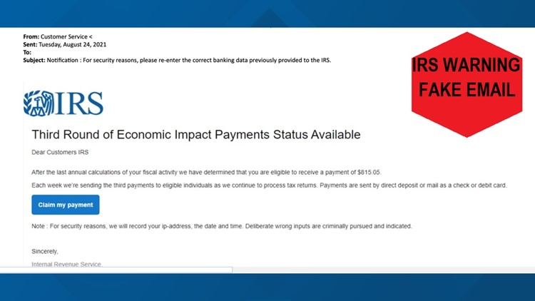 Stimulus payment email is a fake! IRS confirms they are not sending out these emails