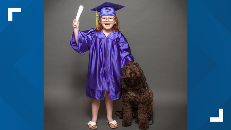 Hadley Jo Lange and Ariel kindergarten graduation