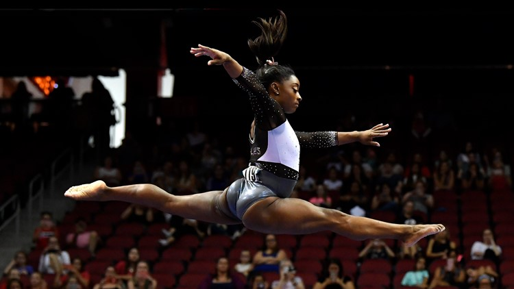 Simone Biles takes gold medal in Louisville