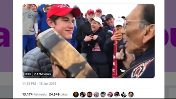 Native American says Ky. students in viral video wound up singing with them