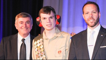 Boy with autism earns Boy Scout's highest rank