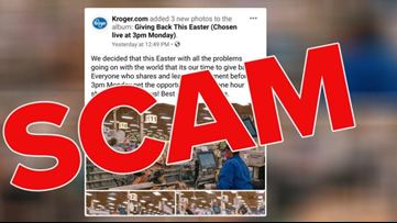 Kroger says viral Facebook post about shopping spree giveaway is a scam