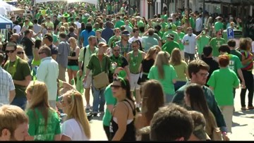 St. Pat's in Five Points on Saturday