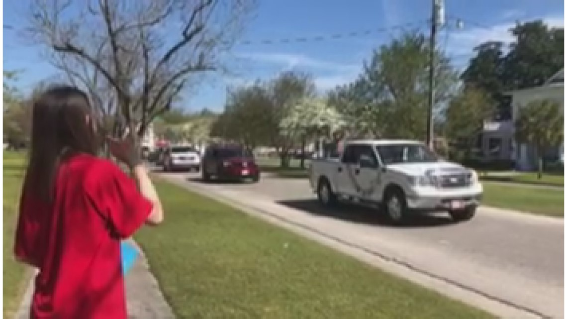 Batesburg-Leesville community has surprise birthday parade for 18-year-old