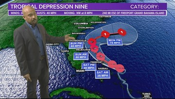 Tropical Depression 9 forms, may not strike United States