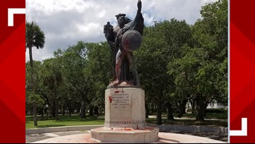 Two arrested after vandalizing Confederate monument with paint