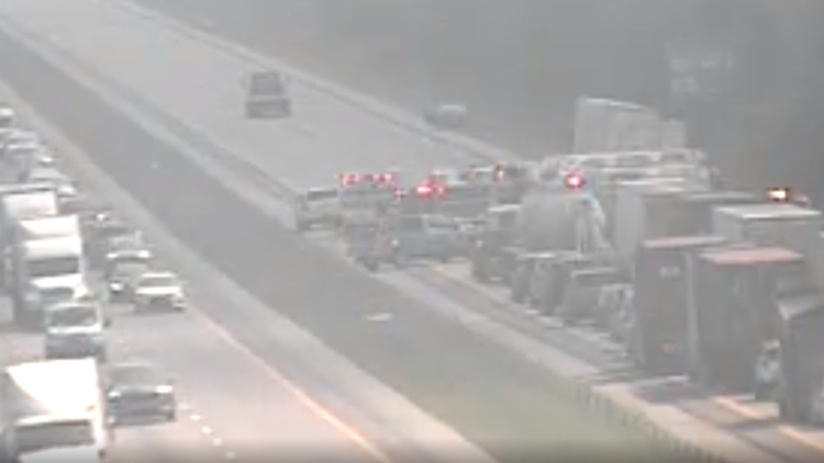 Traffic moving again on I-77 north in Columbia after crash