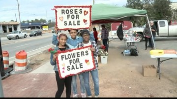 Youth Corps SC sell Valentine's Day Flowers