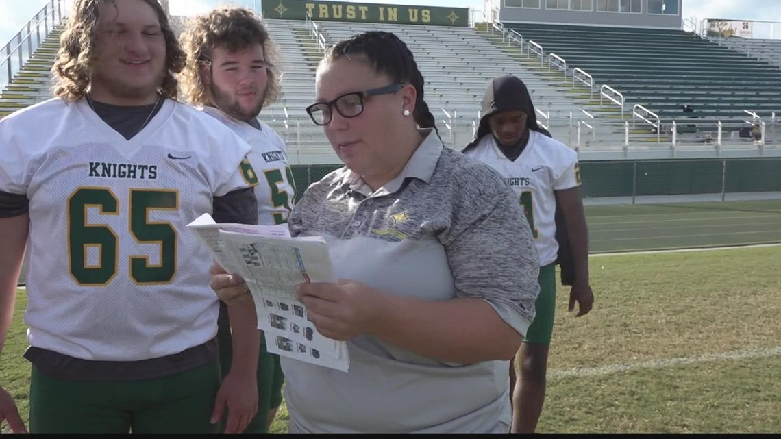 North Central high school makes history with female football coach