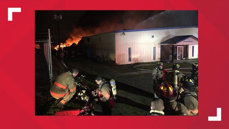 Firefighters battle early morning business fire in Lexington