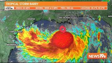 Tropical Storm Barry strengthens, nears Louisiana coast