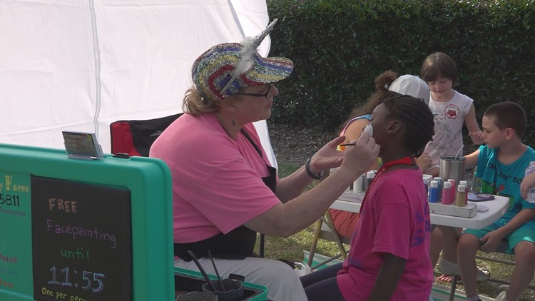 Back to School Bash SUMTER Face Painting
