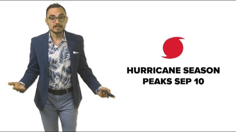 September 10th is the peak of hurricane season