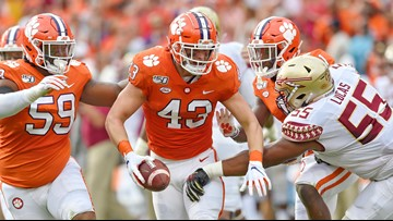 Clemson pounds Florida St 45-14 for 21st straight win