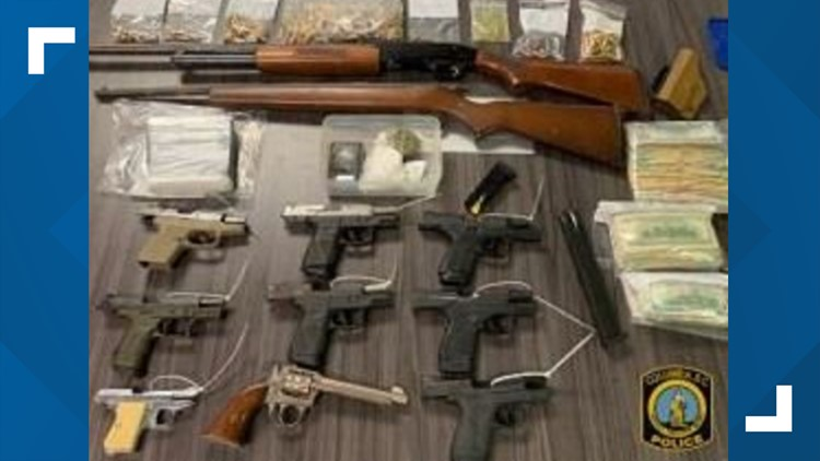 drugs weapons seized