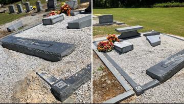 Headstones, graves damaged in vandalism of Lexington cemetery, police say