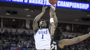 Zion, Duke survive UCF's late misses, reach Sweet 16