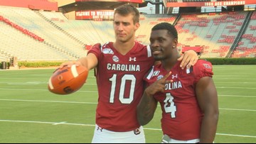 The Gamecocks strike a pose at Photo Day