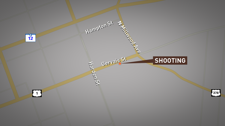 Gervais Street Shooting Locator Map