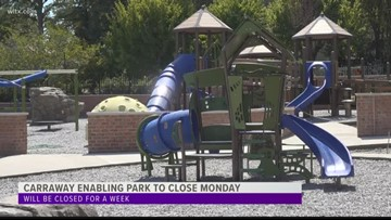Carraway Enabling park to close for a week