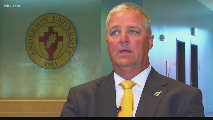 Bobby Lamb introduced as the new head football coach at Anderson University