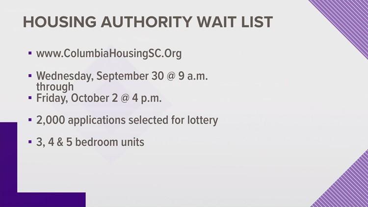Columbia Housing to open wait list