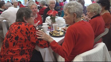 Seniors celebrate Valentine's day with a luncheon