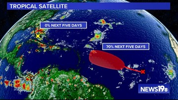 Two systems being monitored in the Atlantic